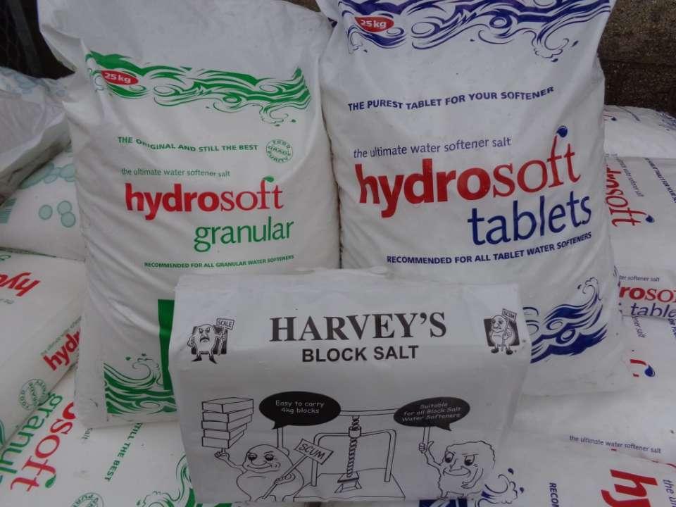 Hydrosoft Water Softener & Harveys Block Salt